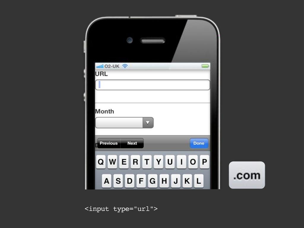 """<input type=""""url"""">"""