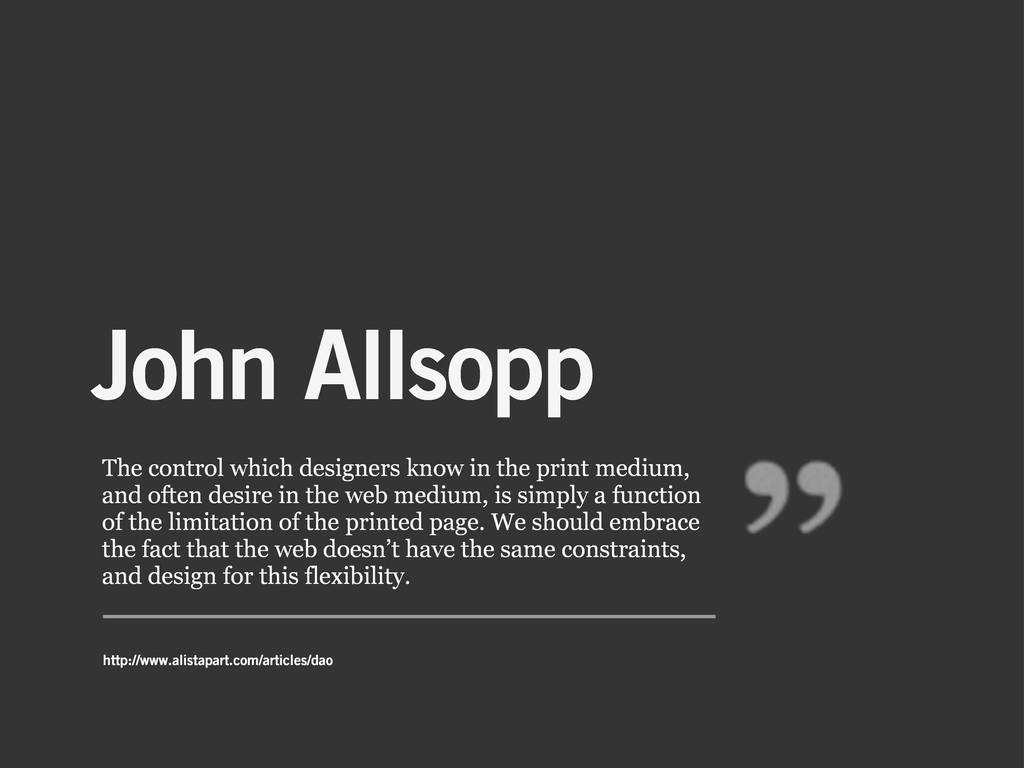 John Allsopp The control which designers know i...