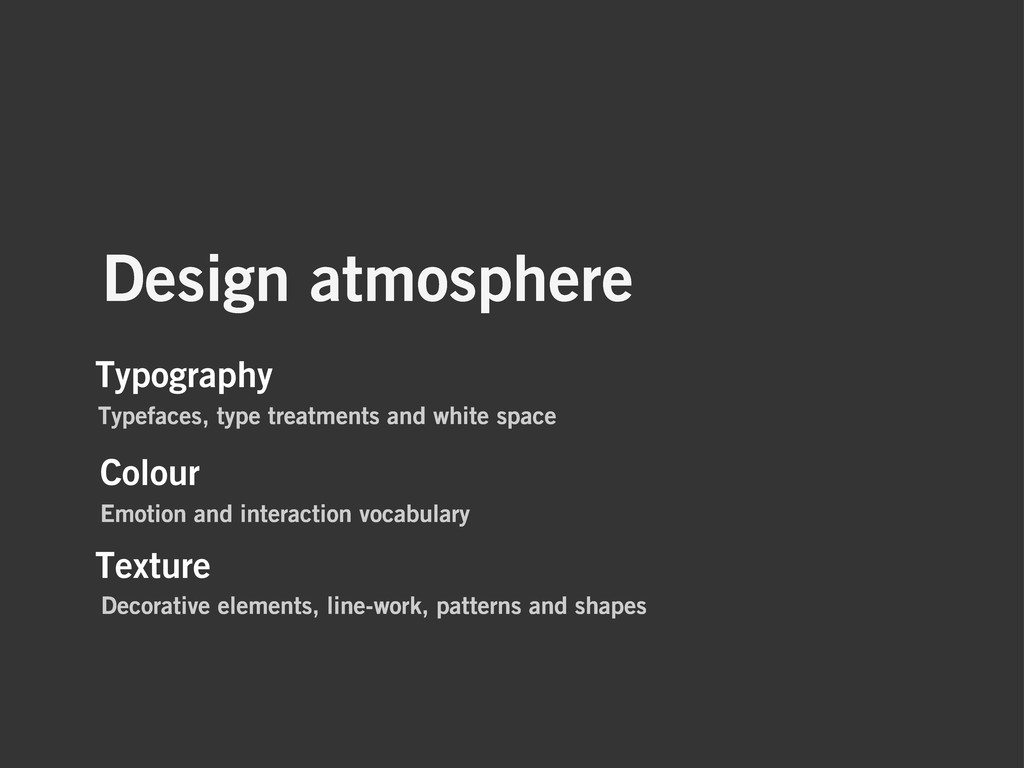 Design atmosphere Typography Typefaces, type tr...