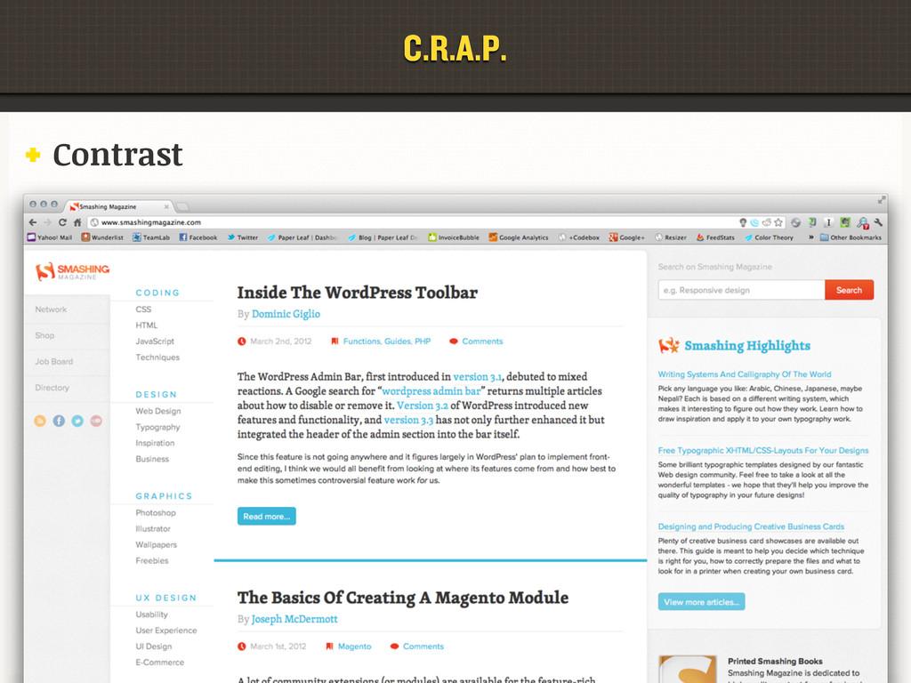C.R.A.P. Contrast