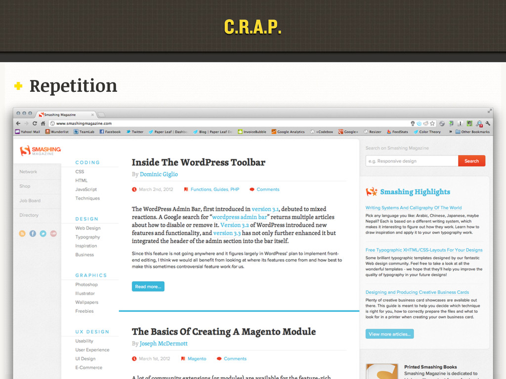 C.R.A.P. Repetition C.R.A.P.