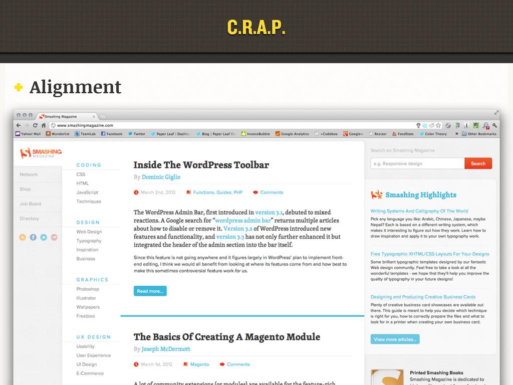 C.R.A.P. Alignment C.R.A.P.