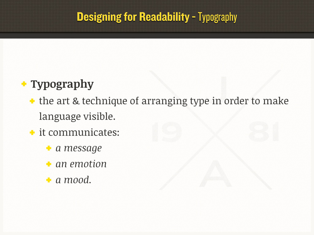 Designing for Readability - Typography Typograp...