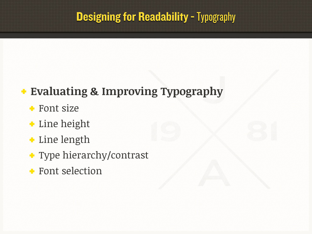 Designing for Readability - Typography Evaluati...