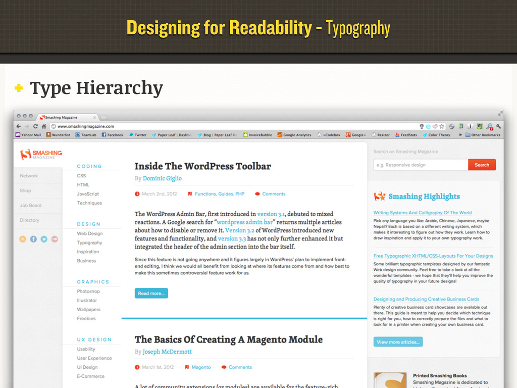 Designing for Readability - Typography Type Hie...