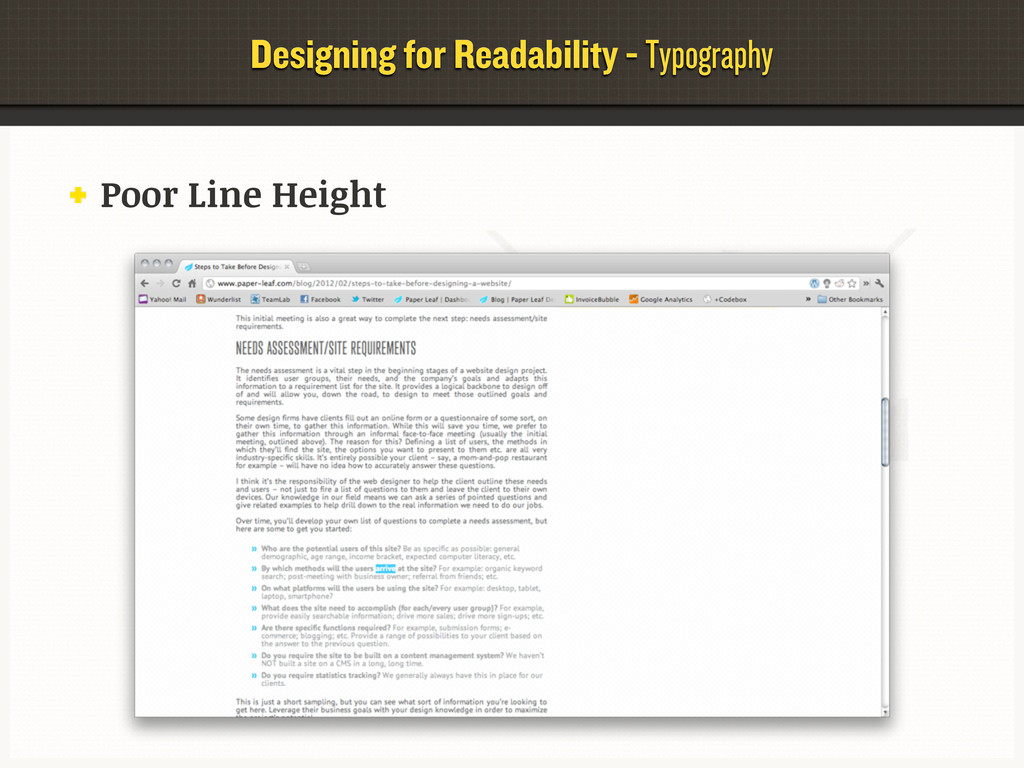 Designing for Readability - Typography Poor Lin...