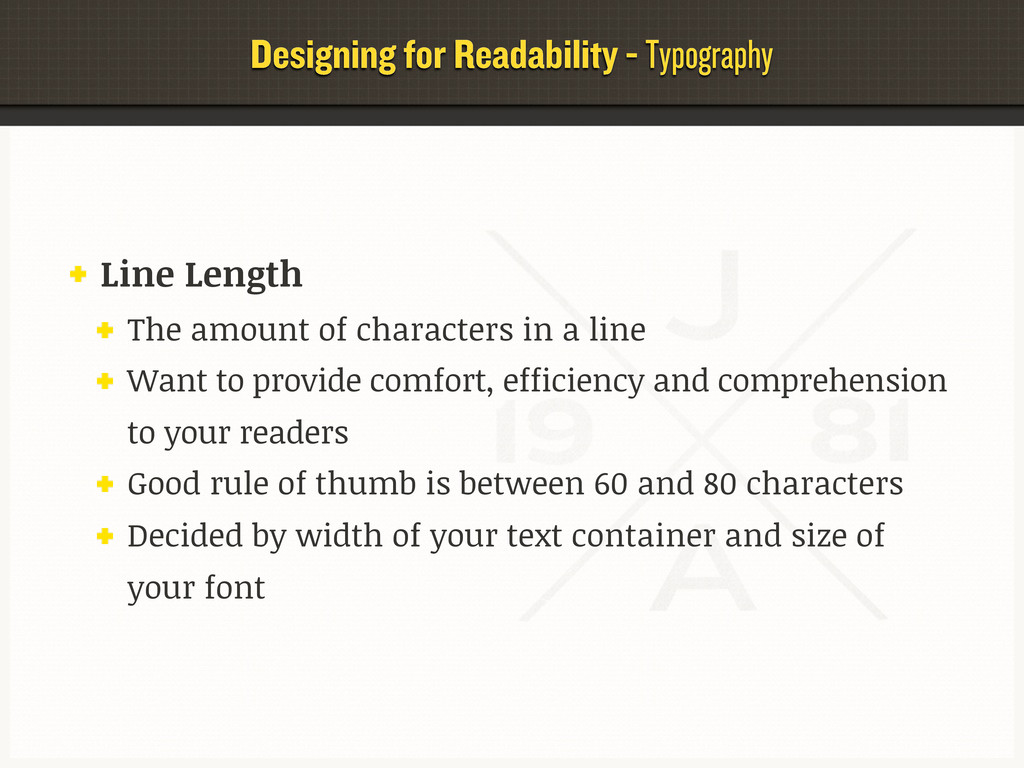 Designing for Readability - Typography Line Len...
