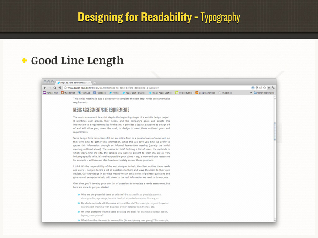 Designing for Readability - Typography Good Lin...