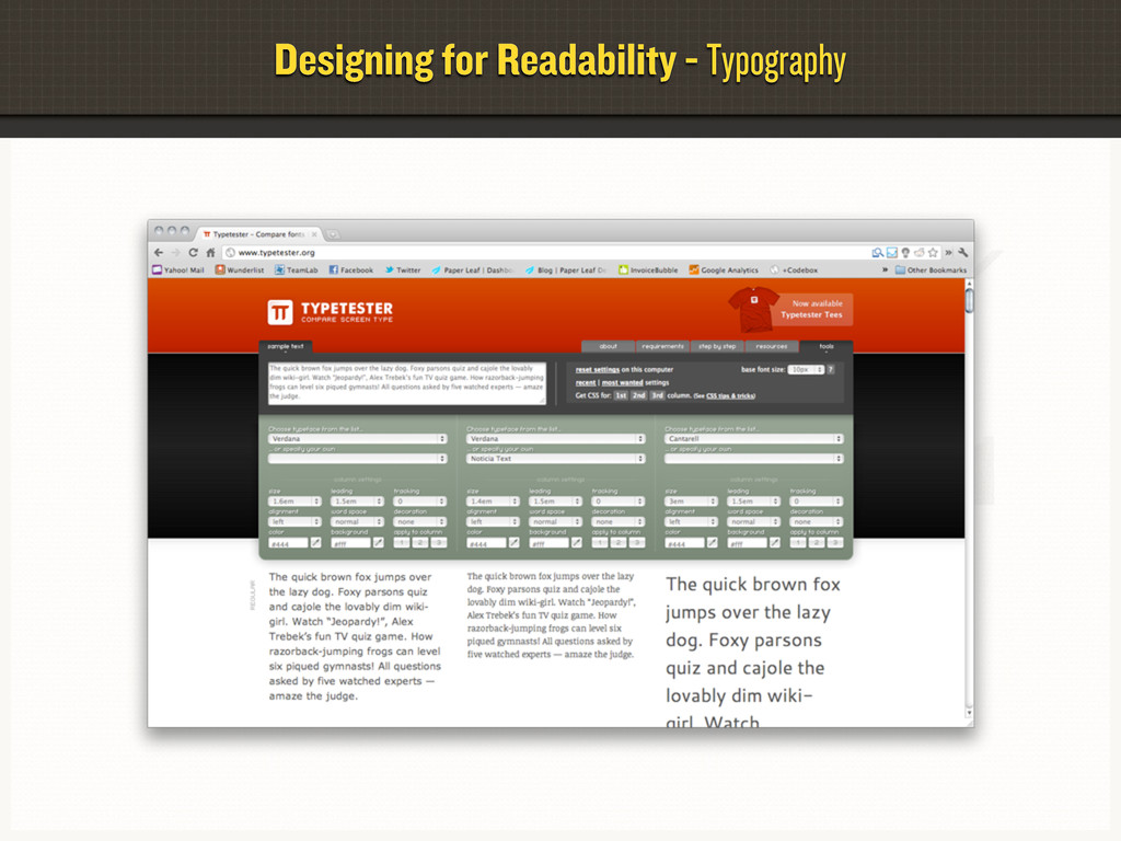 Designing for Readability - Typography