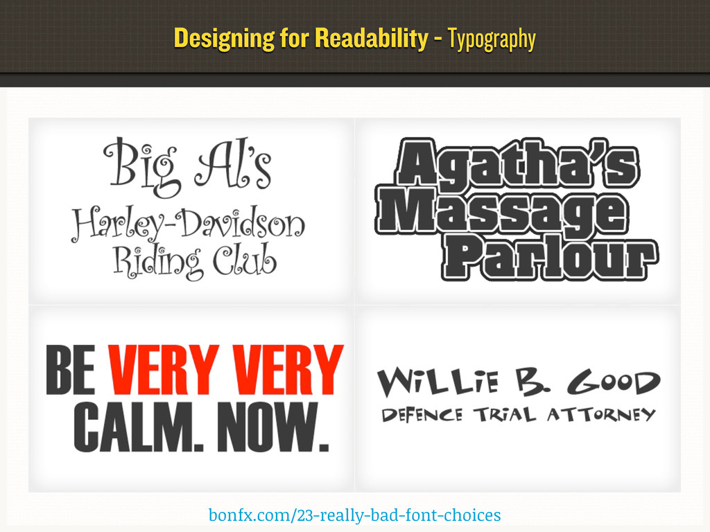 Designing for Readability - Typography bonfx.co...