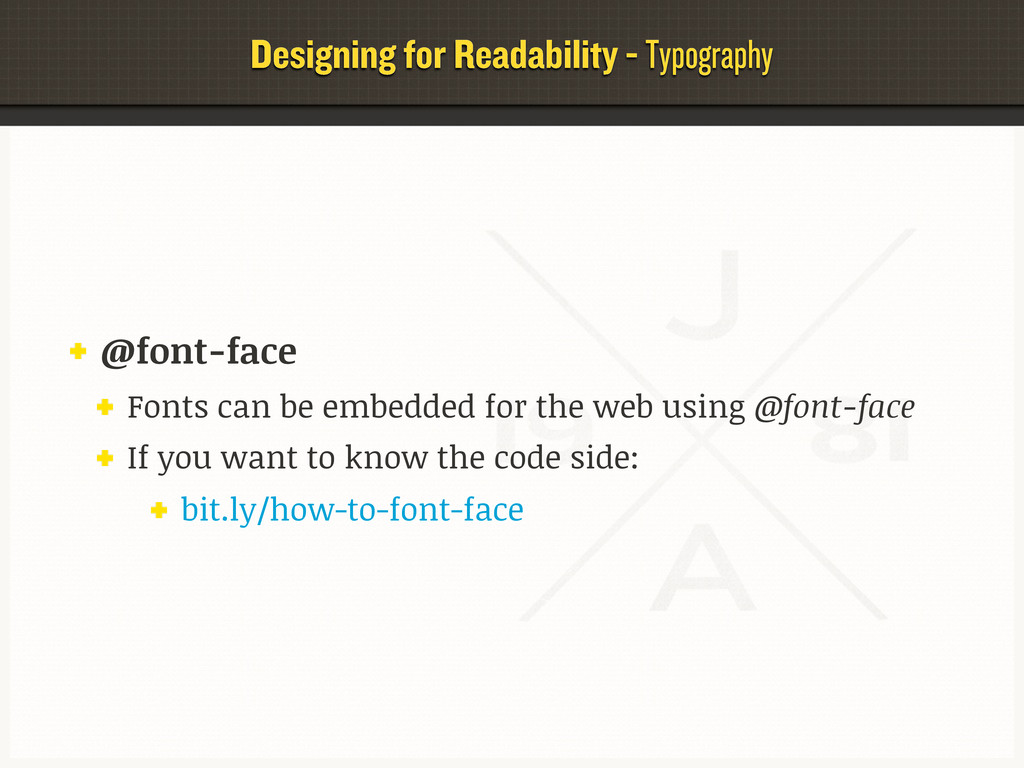 Designing for Readability - Typography @font-fa...