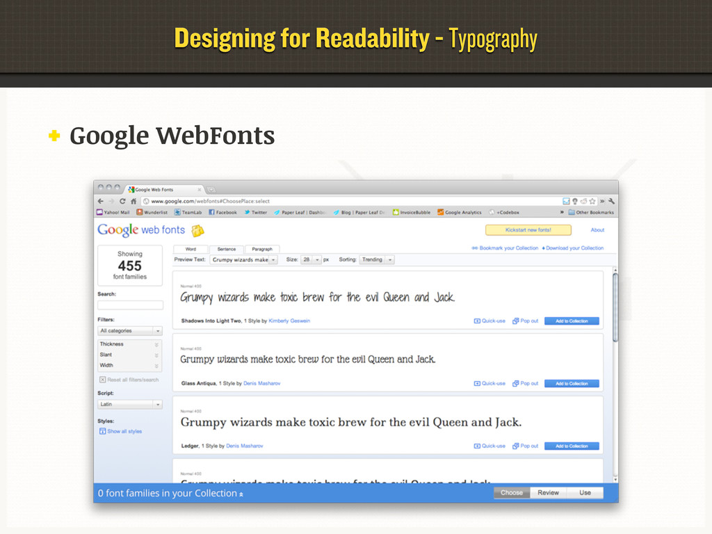 Designing for Readability - Typography Google W...