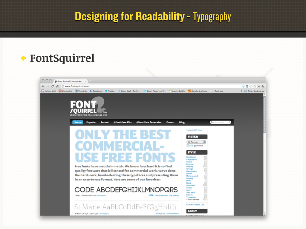 Designing for Readability - Typography FontSqui...