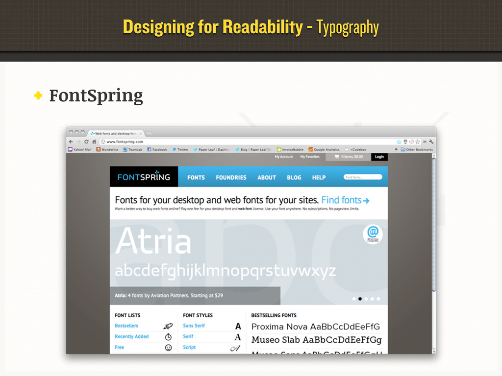 Designing for Readability - Typography FontSpri...