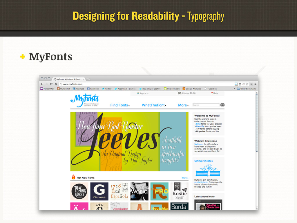 Designing for Readability - Typography MyFonts