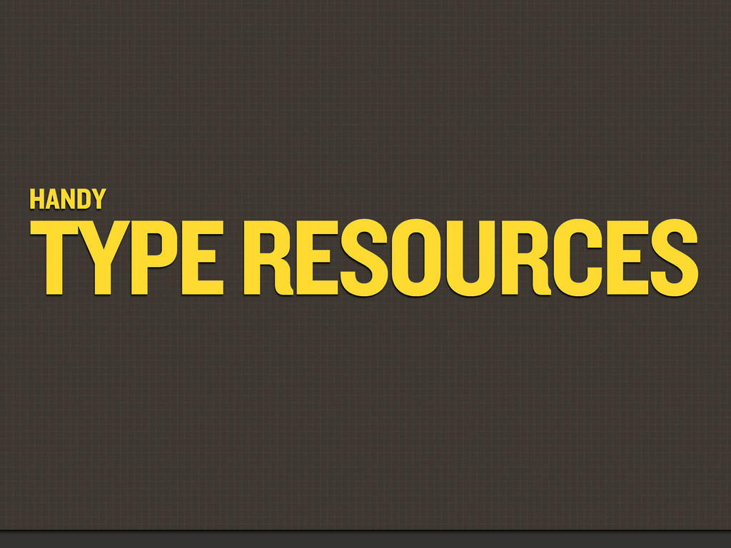 HANDY TYPE RESOURCES