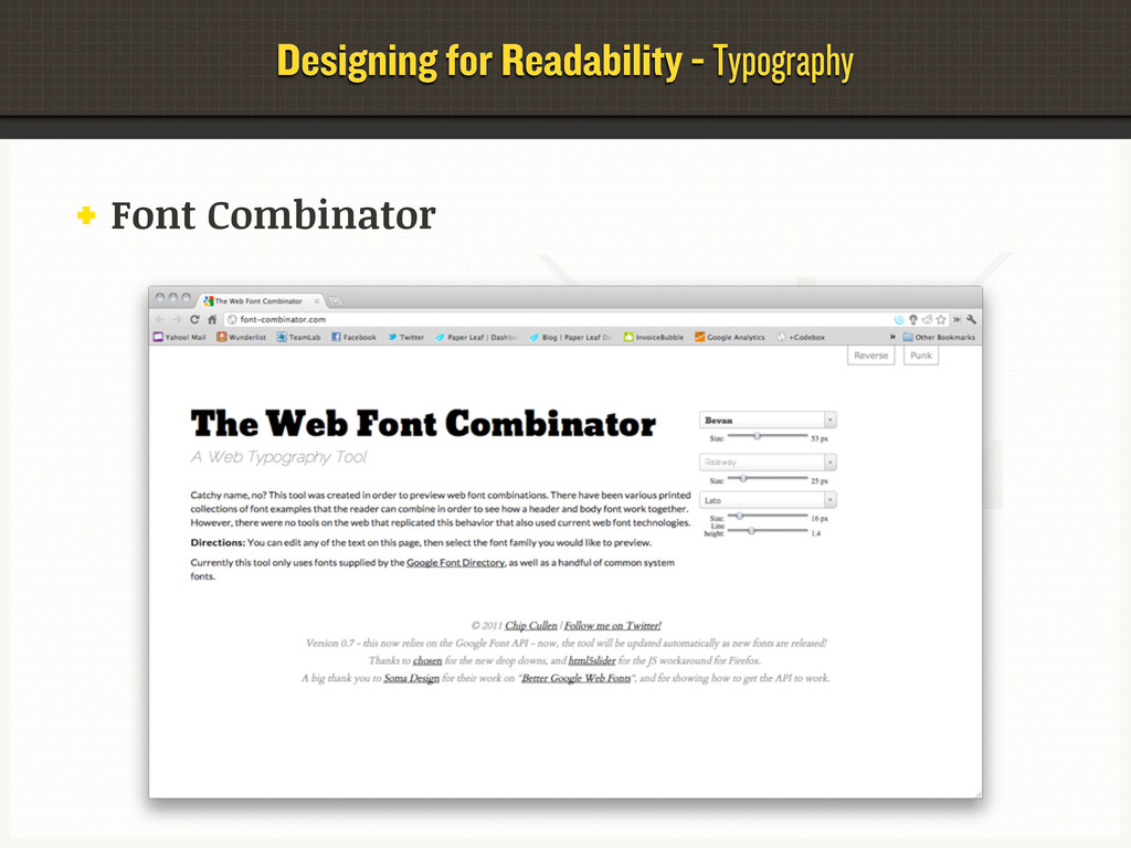 Designing for Readability - Typography Font Com...
