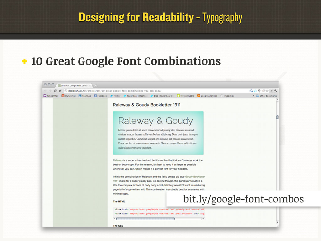 Designing for Readability - Typography 10 Great...