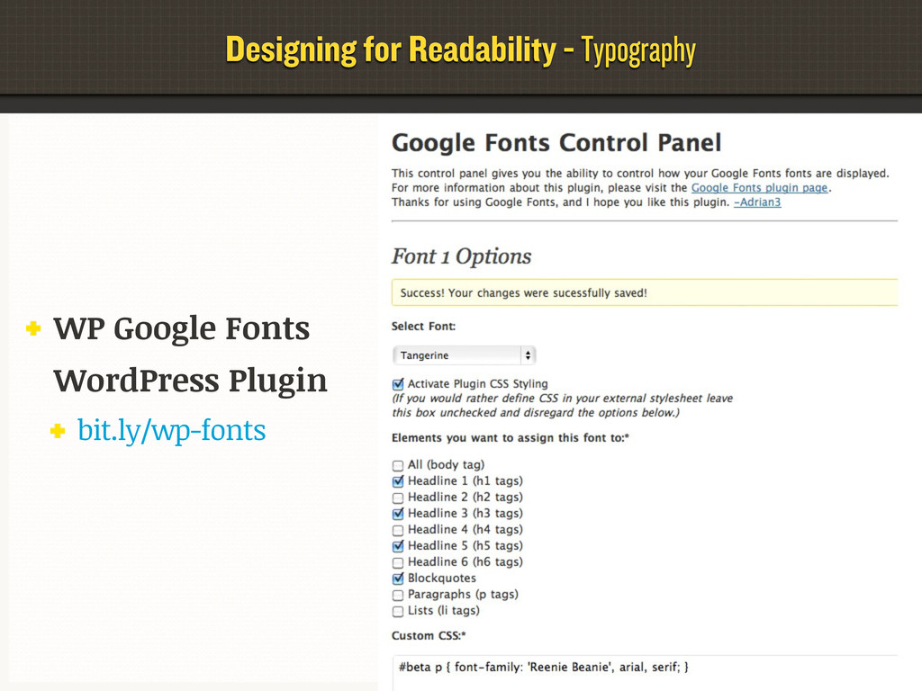 Designing for Readability - Typography WP Googl...