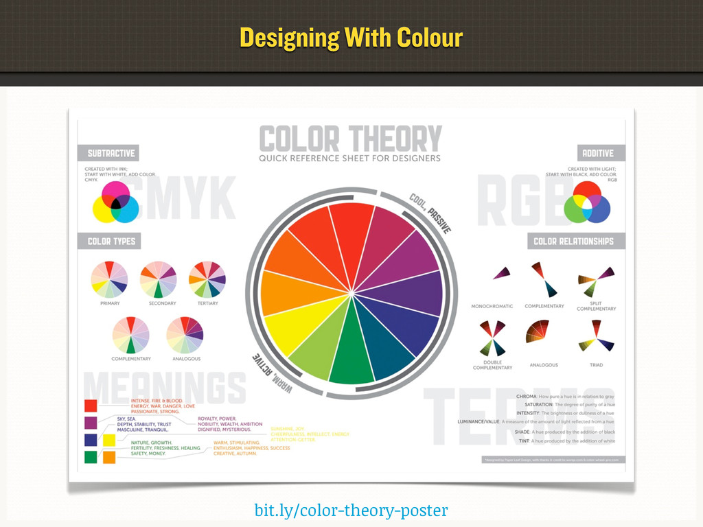bit.ly/color-theory-poster Designing With Colour