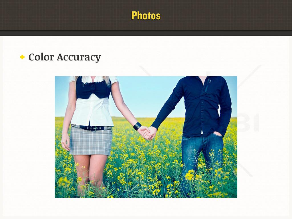 Photos Color Accuracy