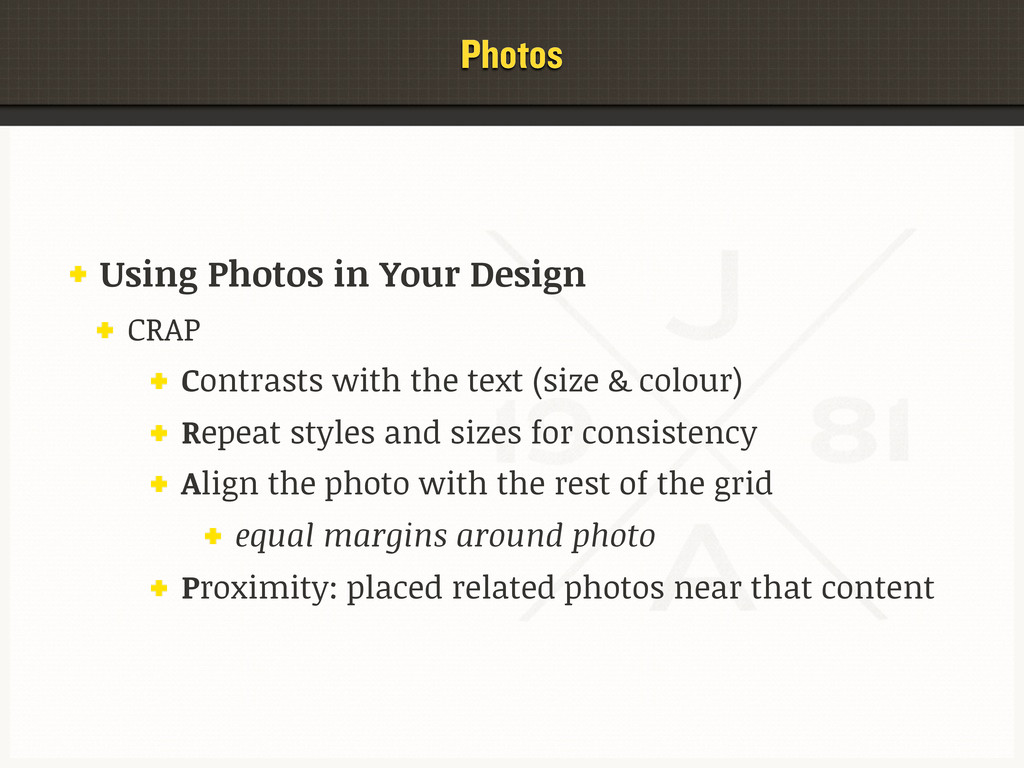 Photos Using Photos in Your Design CRAP Contras...