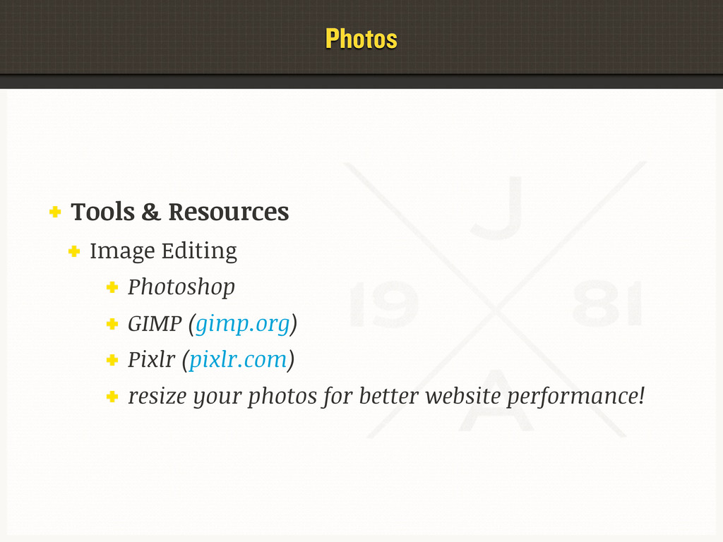Photos Tools & Resources Image Editing Photosho...