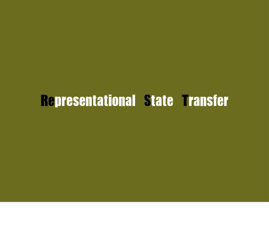 Representational State Transfer