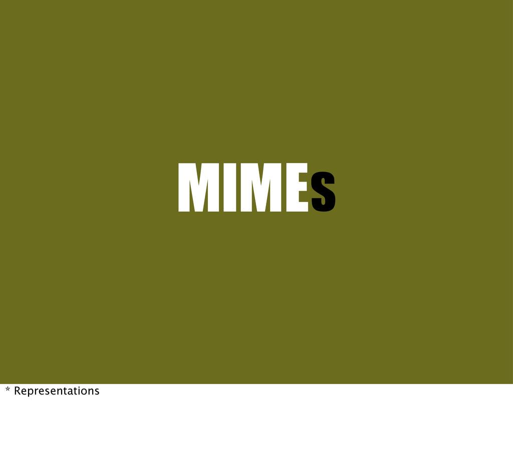 MIMEs * Representations