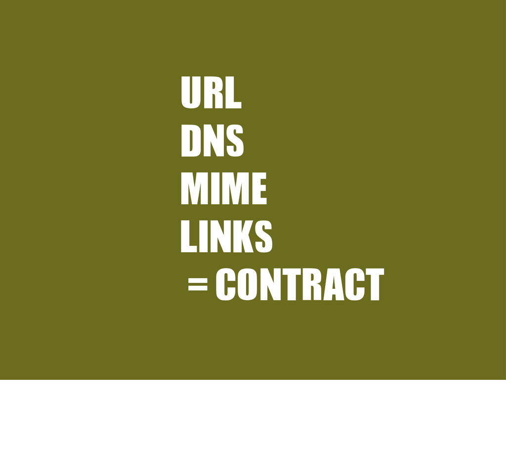 URL	  DNS MIME LINKS =CONTRACT