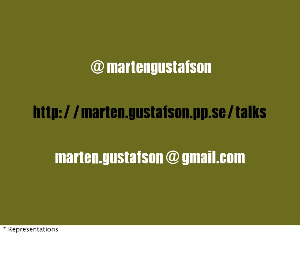 @martengustafson marten.gustafson@gmail.com htt...
