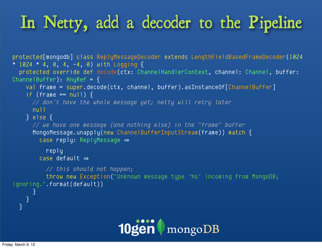 In Netty, add a decoder to the Pipeline protect...