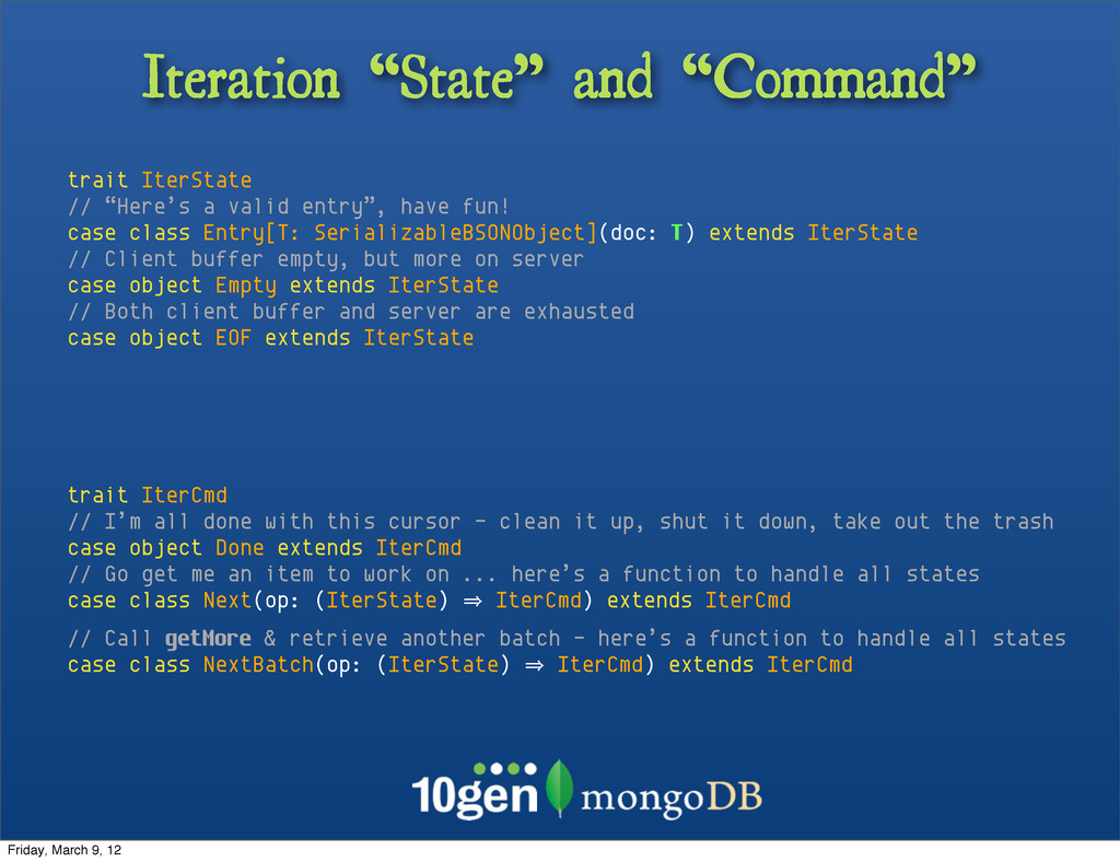"Iteration ""State"" and ""Command"" trait IterState..."