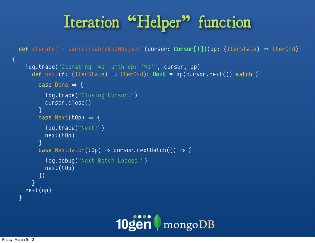 "Iteration ""Helper"" function def iterate[T: Seri..."