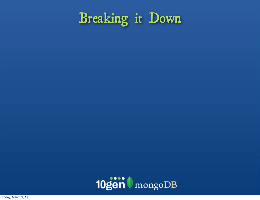 Breaking it Down Friday, March 9, 12