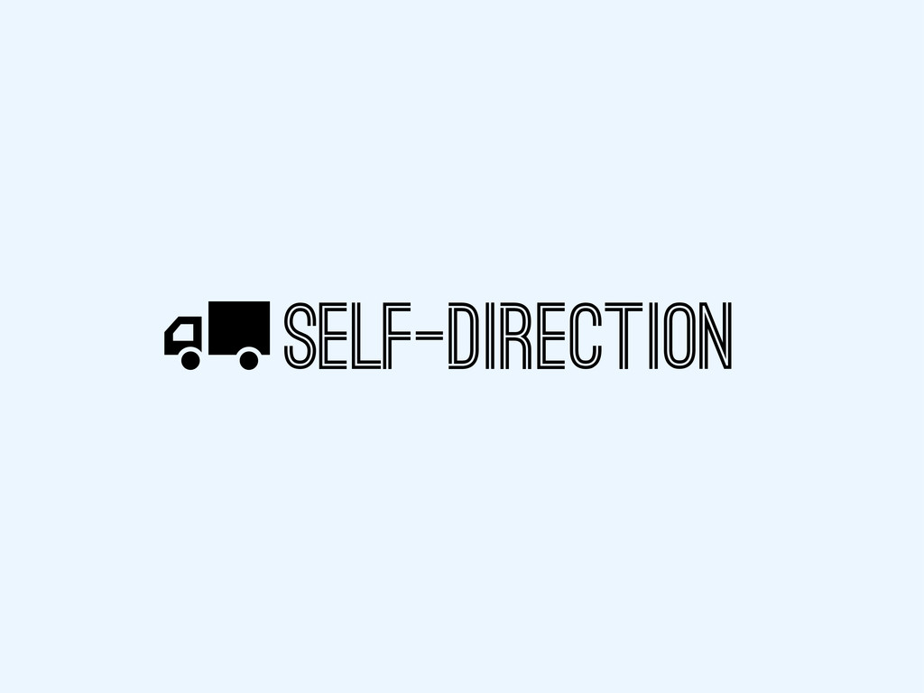 SELF-DIRECTION X