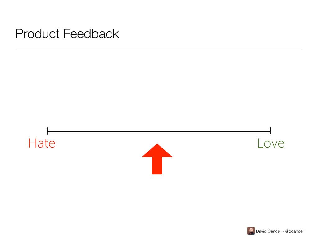 David Cancel - @dcancel Hate Love Product Feedb...