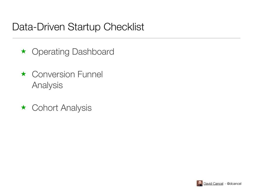 David Cancel - @dcancel Data-Driven Startup Che...