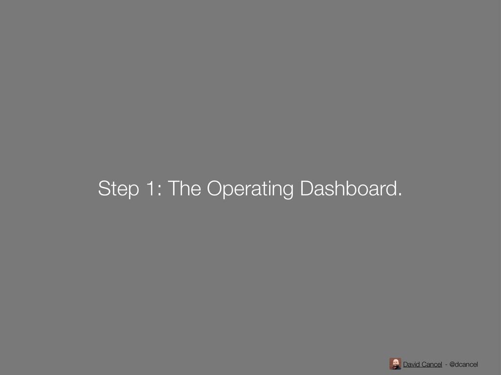 David Cancel - @dcancel Step 1: The Operating D...