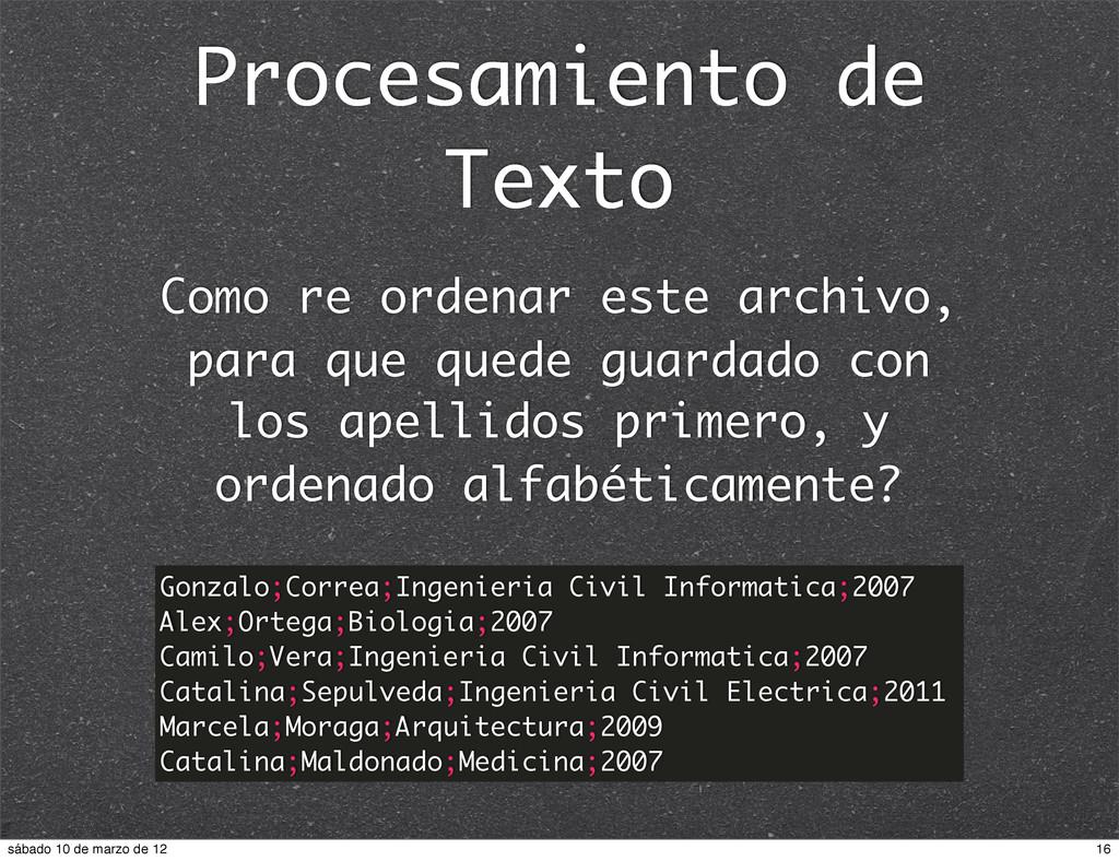 Procesamiento de Texto Gonzalo;Correa;Ingenieri...