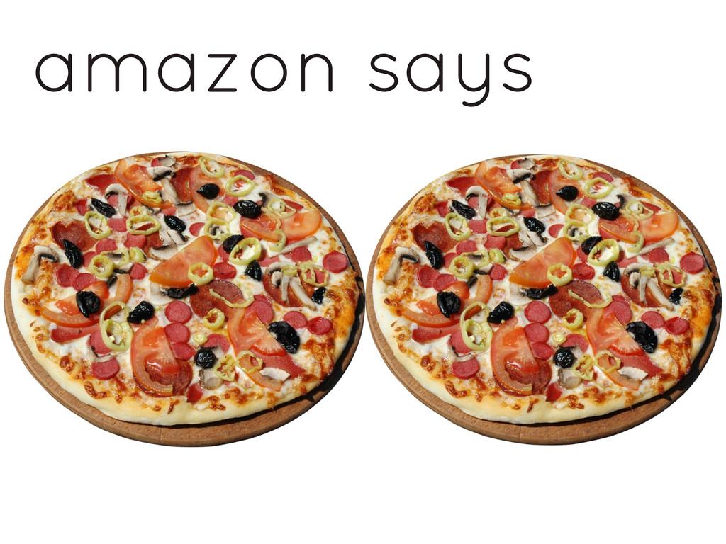 amazon says