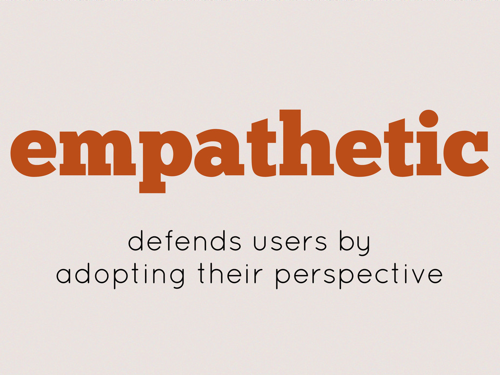 empathetic defends users by adopting their pers...