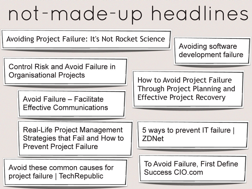 How to Avoid Project Failure Through Project Pl...