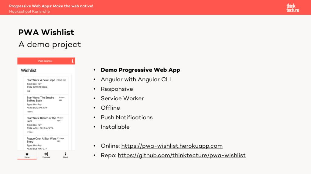 A demo project • Demo Progressive Web App • Ang...