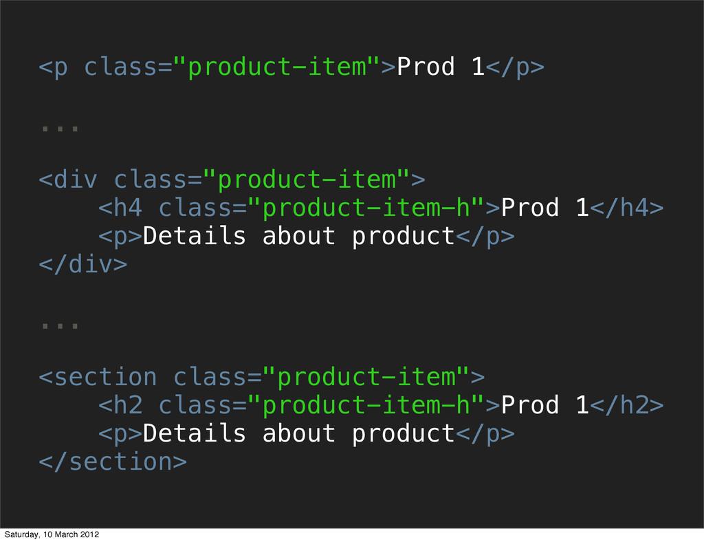 "<p class=""product-item"">Prod 1</p> ... <div cla..."