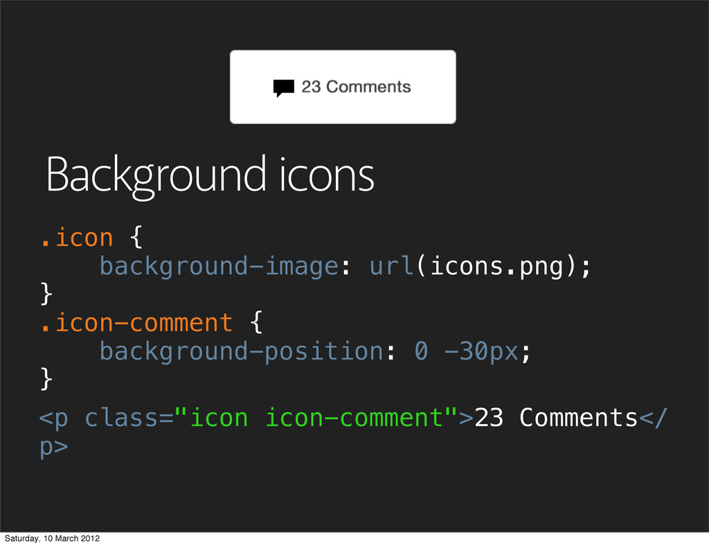 "Background icons <p class=""icon icon-comment"">2..."