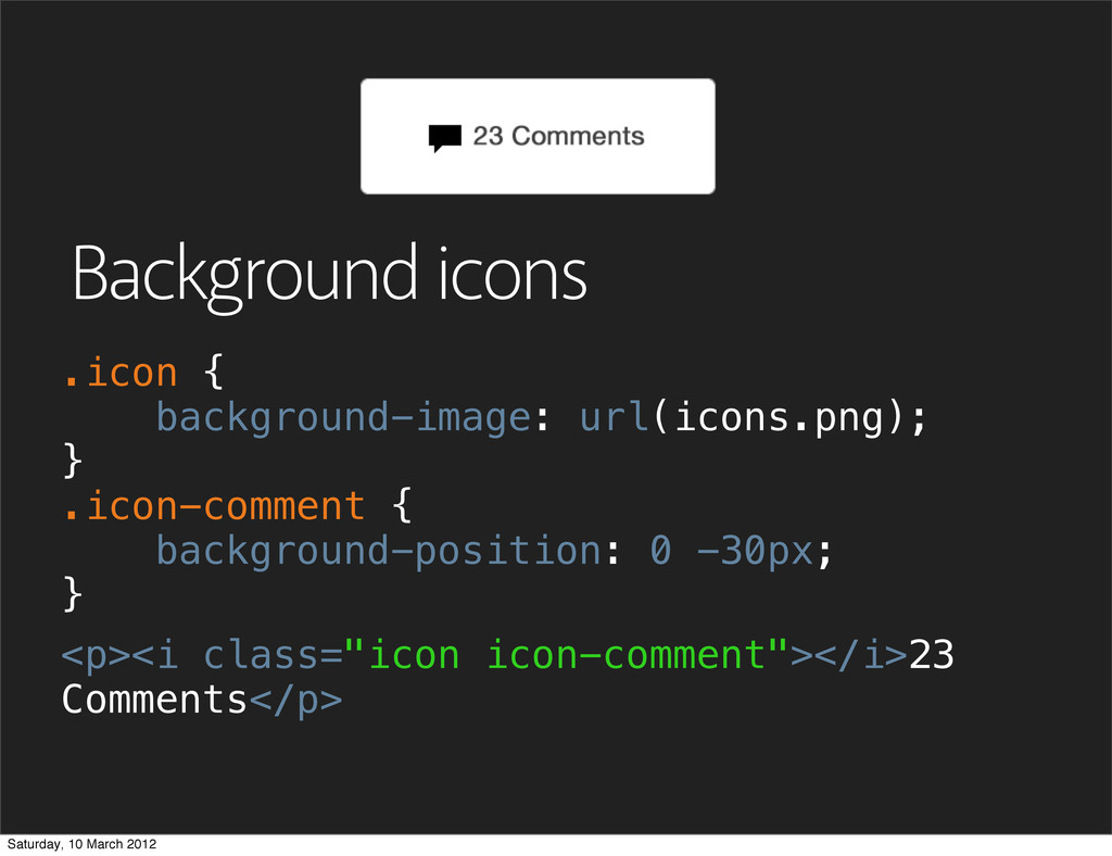 "Background icons <p><i class=""icon icon-comment..."