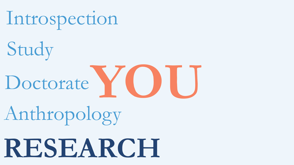 RESEARCH YOU Anthropology Doctorate Study Intro...