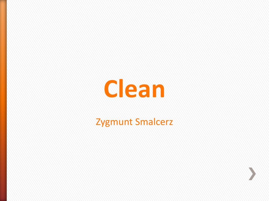 Clean Zygmunt Smalcerz
