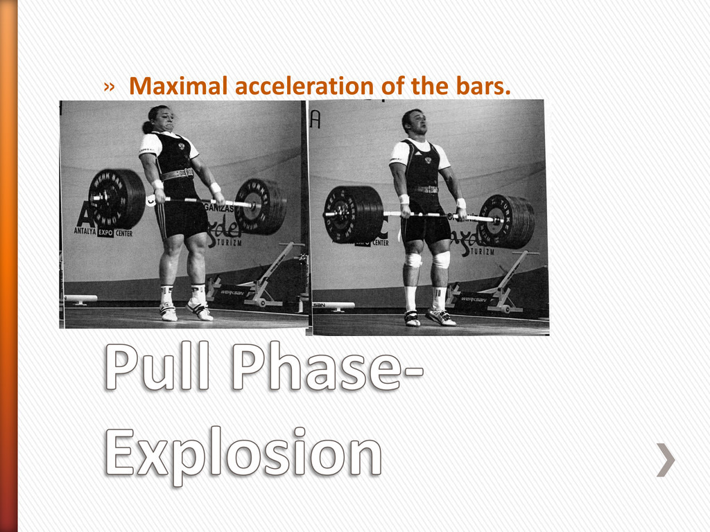 » Maximal acceleration of the bars.